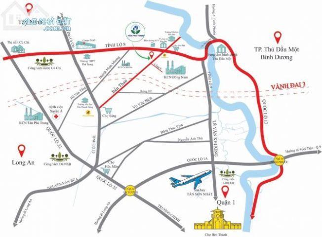Chính thức mở bán 63 nền đất liền kề quận 12, Hóc Môn, Thủ Dầu 1