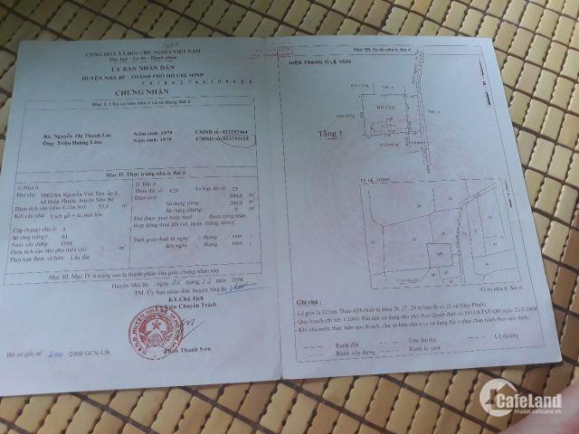 Bán Đất Thổ Cư Diện Tích 8X19 =150M2. Huyện Nhà Bè, Xã Hiệp Phước Giá 2.25 Tỷ