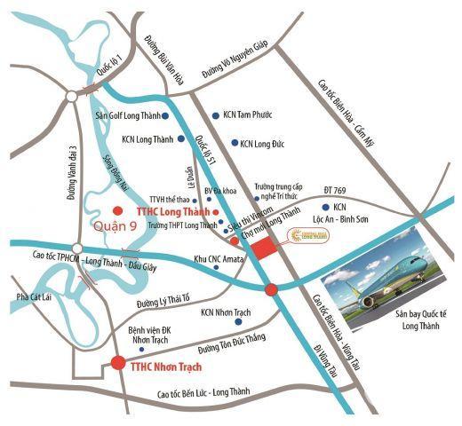 central mall trung tâm long thành- có SHR từng nền- mặt tiền quốc lộ 51 chỉ với 2 tỷ