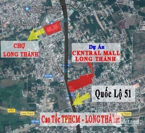 Mở bán khu đô thị đẹp hơn cả khu chợ mới Long Thành.
