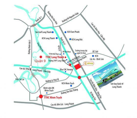 Mở Bán Đợt 1 dự án Central Mall Long Thành mặt tiền QL51, chỉ 380tr/nền