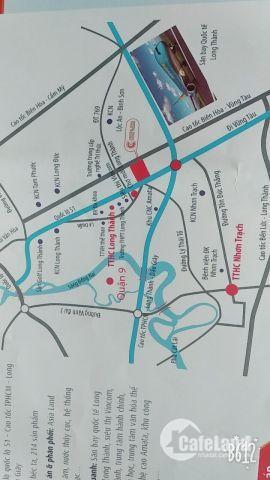 Chỉ từ 570tr sở hữu ngay nền đất mặt tiền Qlo 51 gần chợ mới Long Thàng