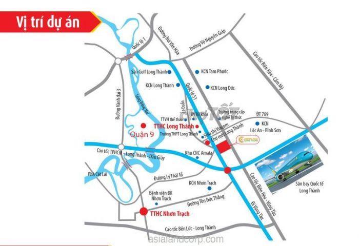 Đất nền khu đô thị cao cấp Central mall Long Thành, giá chỉ từ 680tr/m2, LH ngay 0937 847 467
