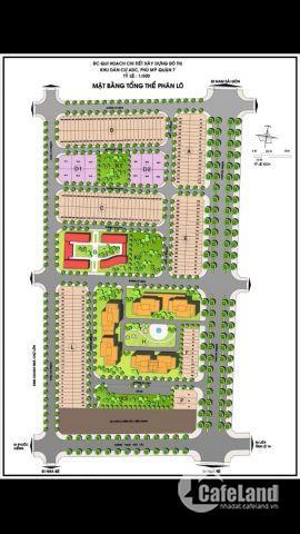 bán gấp lô đất mặt tiền Nguyễn Lương Bằng - khu dân cư ADC Quận 7