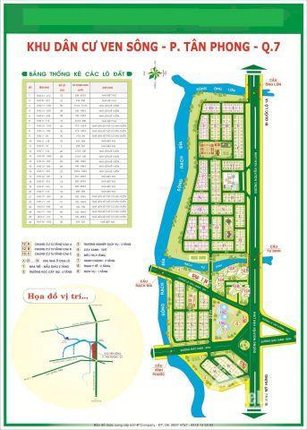 Bán Đất Ven Sông Tân Phong Quận 7 MT nguyễn Văn Linh,ĐH RMIT