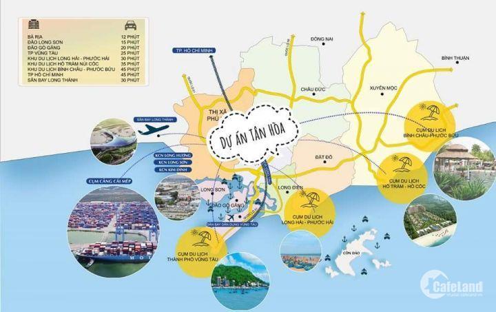 Đất Phú Mỹ ngay QL51 đi vào giá 350tr sinh lời lên đến 15% sau 6 tháng gần cảng Cái Mép