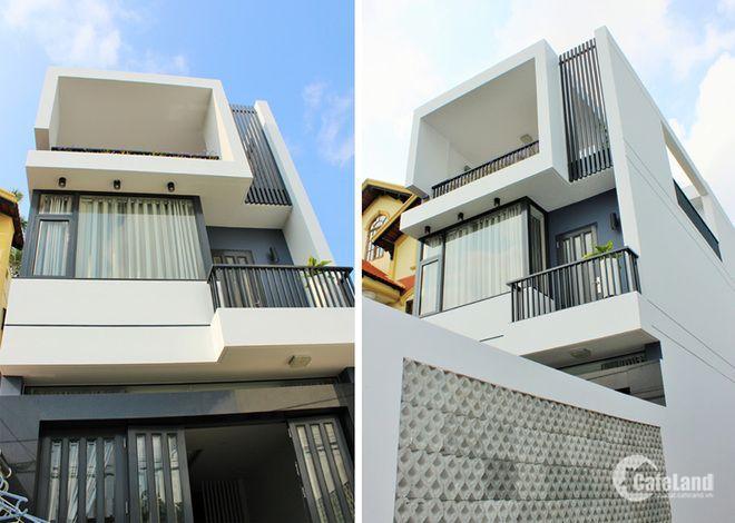 Bán gấp nhà mới xây 1 trệt 2 lầu mặt tiền Nguyễn Hữu Thọ 980 triệu.