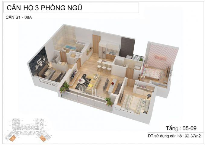 Bán chung cư Saphire Residence Hạ Long, chỉ 1.6 tỷ/căn 2 ngủ, nội thất 5 sao