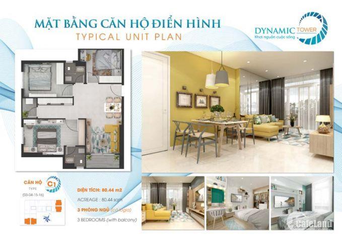 Căn Hộ Dynamic - Mặt Tiền Nguyễn Văn Linh Giai Đoạn 1, giá chỉ 1,1 Tỷ, DT 46m2