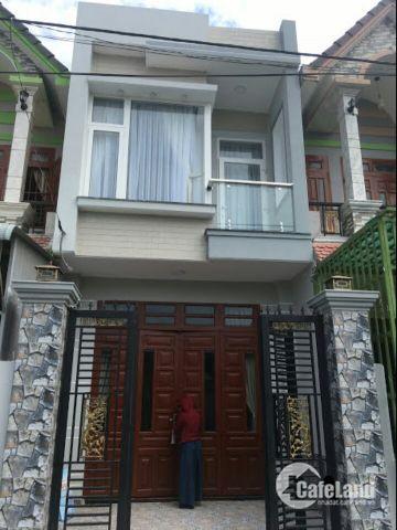 Bán gấp nhà 1 tret 1 lầu ngay Cầu Xáng, Bình Chánh, 75m2, SHR