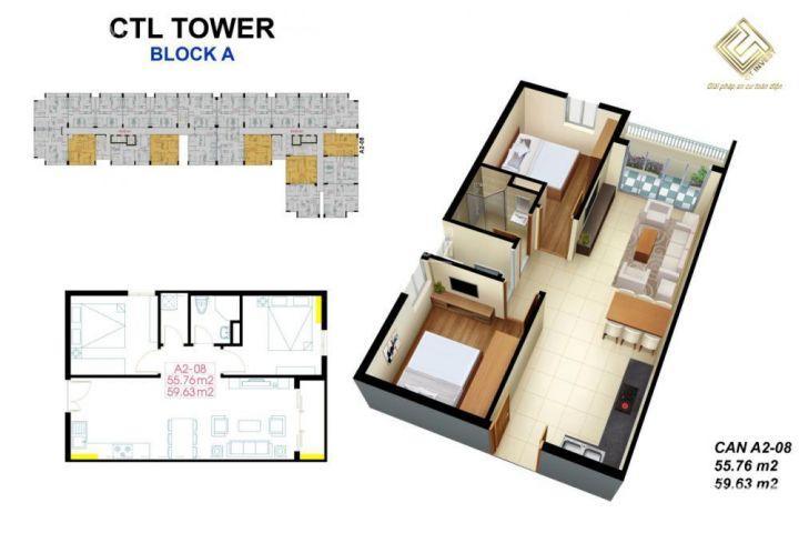 cơ hội cuối mua căn hộ 2 PN 70m2 CTL Q12