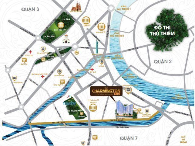 bể nợ bán lổ 1CH của dự án CHARMINGTON  tầng 20 view sông sài gòn bitexco q1 nội thất ful, 2PN, 2T5