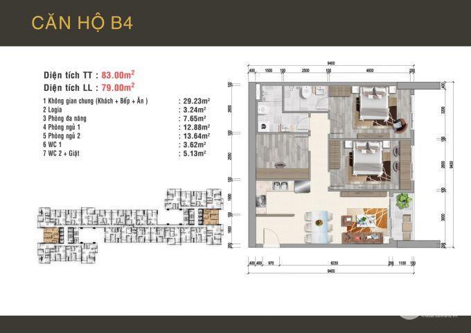 Chính chủ cần bán căn hộ 3PN ngay trung tâm Q6 với giá gốc