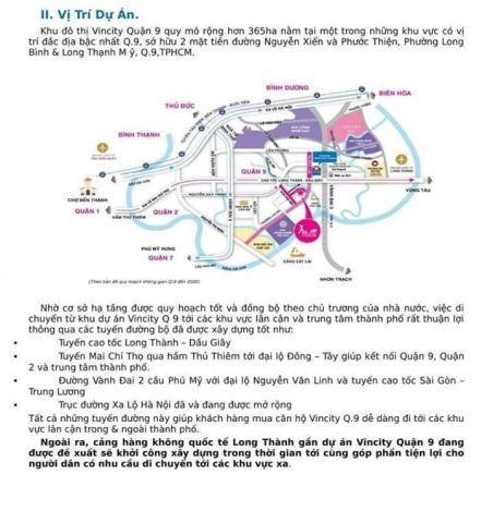 Nhân giữ chổ Vin City khu đô thị mới quận 9