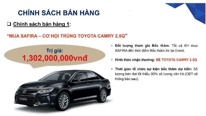 Mua Safira Khang Điền trúng  Toyota Camry 1,3 tỷ Hotline: 0903698085.