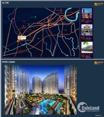 Bán Căn Hộ Cao Cấp AKARI CITY (giá 1,5 tỷ), thanh toán 50% nhận nhà