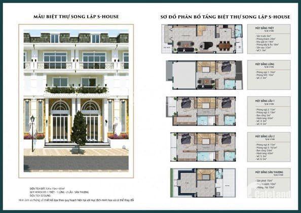 Bán nhà phố liền kề,lần đầu tiên có tại Long An 1 trệt,1lửng, 1 lầu, 850tr nhận nhà ngay