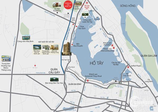 Bán căn hộ Tây Hồ residence mặt đường Võ Chí Công Cách Hồ Tây 300m.Giá 38tr/m2