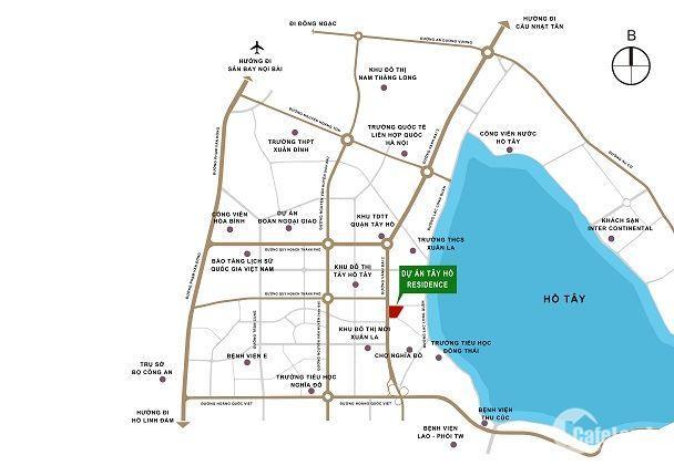 Tây Hồ Residence vị trí độc tôn,3 mặt view Hồ Tây,giá chỉ từ 2,9tỷ (bao gồm VAT), CK 2 cây vàng.