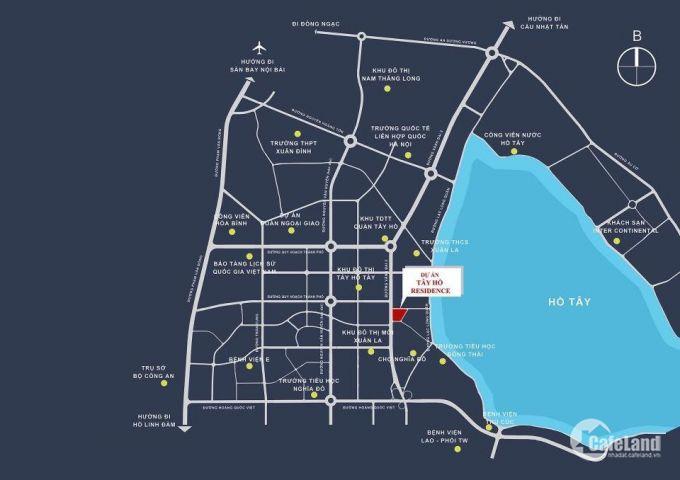 Chung cư căn hộ Tây Hồ Residence là trung tâm thương mại sầm uất nhất mặt đường võ chí công
