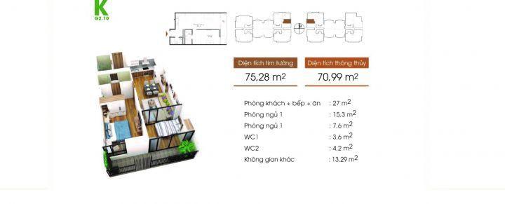 cần bán GẤPcăn hộ G4- 1210 , 71m2 thông thủy, 2 ngủ , 2 vs, giá 2 tỷ 170.