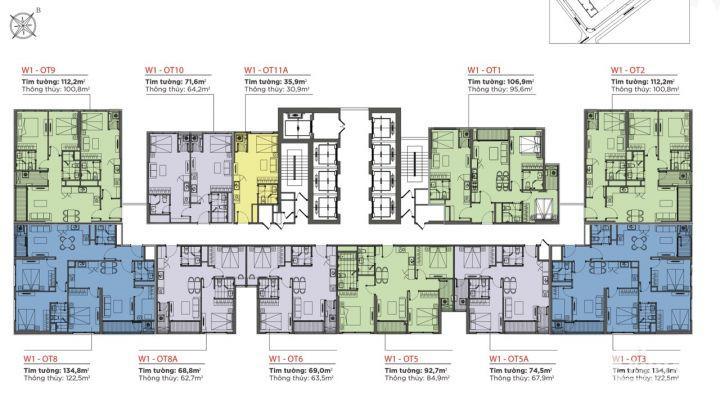 Bán căn hộ 1 PN Vinhomes West Point Đỗ Đức Dục, thích hợp cho thuê, làm văn phòng đại diện, 1.6 tỷ   35m2
