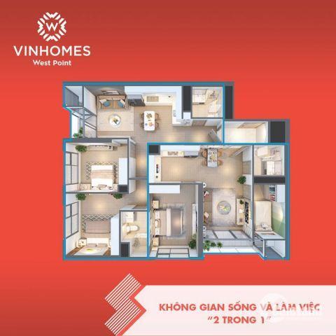 Bán căn chung cư góc 2 chìa khóa dự án Vinhomes West Point - tòa West 1 - 3PN hướng TN, TB