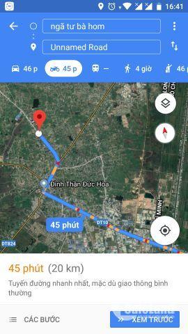 Kẹt tiền cần bán gấp đất nền cách Tỉnh lộ 824 đường nhựa 100m, Đức Hòa - Long An