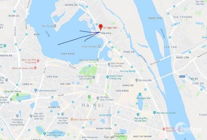 Cho thuê nhà mặt phố Nghi Tàm 107m2 + Bonus Hầm 38tr có thương lượng
