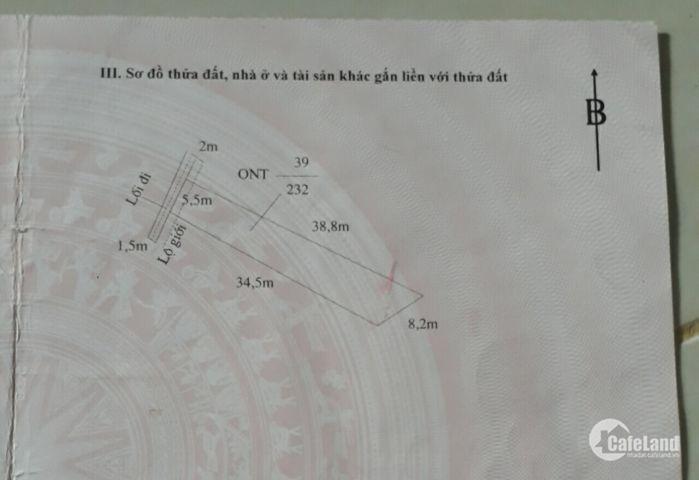 Cần bán gấp đất thổ cư chính chủ tổng DT 232m2 ngang 5,5m dài 40m nở hậu 8,2m thị trấn Cần Giuộc
