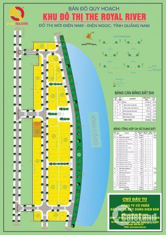 Sở hữu ngay lô góc Đất nền biệt thự Royal River View sông Cổ Cò với giá chỉ từ 12,5 - 17,5 triệu/m2