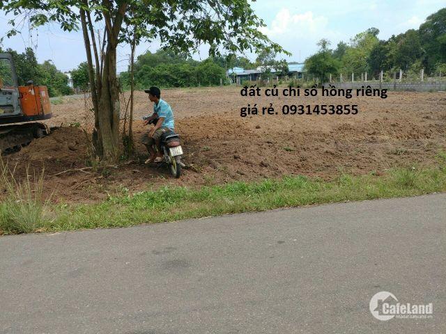 Đất Củ Chi Sổ Hồng Riêng Giá Rẻ 2018 – Thổ Cư – Đường Nguyễn Thị Lắng-0931453855