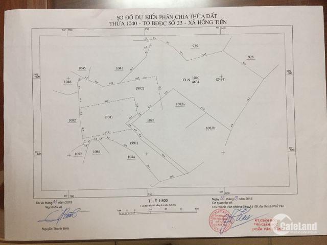 Đất Hồng Tiến Phổ Yên Thái Nguyên cần bán gấp chính chủ