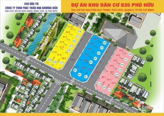 Bán đất nền dự án kdc 835 phú hữu quận 9