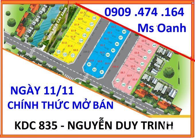 Đất nền KDC đường 835, Nguyễn Duy Trinh, ngay Vòng Xoay Phú Hữu, chỉ 2.3 tỷ/nền