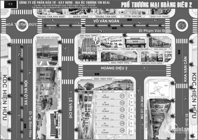 Cần bán lô đất đường Hoàng Diệu 2, 90m2, SHR, xây dựng tự do, giá gốc từ chủ đầu tư.