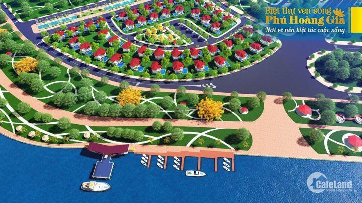 Biệt Thự 500m2, vị trí trung tâm view công viên ven sông, bến du thuyền ven sông.