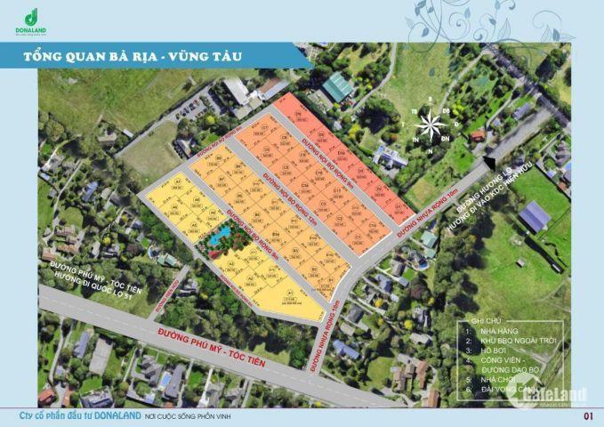 Mở bán đất nền dự án Donabeach 5 tại xã Tóc Tiên, Tân Thành, Bà Rịa - Vũng Tàu