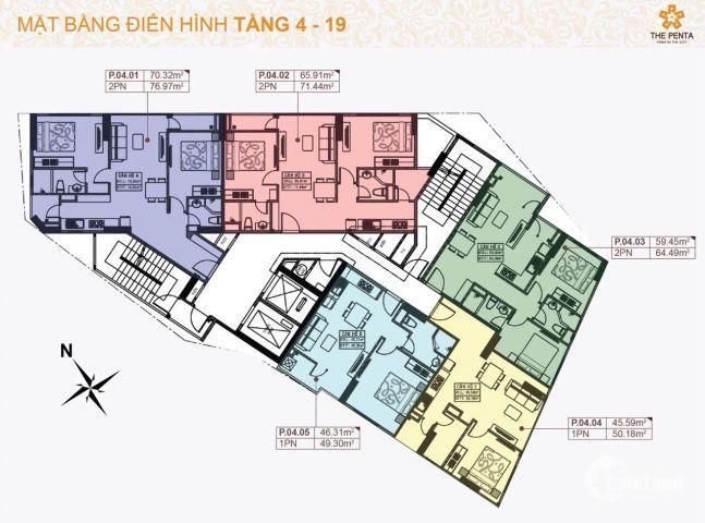"""Căn hộ """"Nhất cận thị"""" mặt tiền chợ Cây Quéo,Bình Thạng chỉ vớii 40 triệu/m2"""