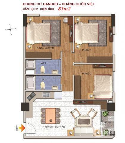 Bán căn hộ chung cư tại 234  Hoàng Quốc Việt, Cầu Giấy, Hà Nội