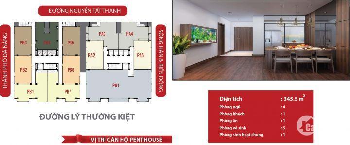 Tận hưởng cuộc sống như ở Châu Âu với Penthouse F- Home trung tâm TP Đà Nẵng
