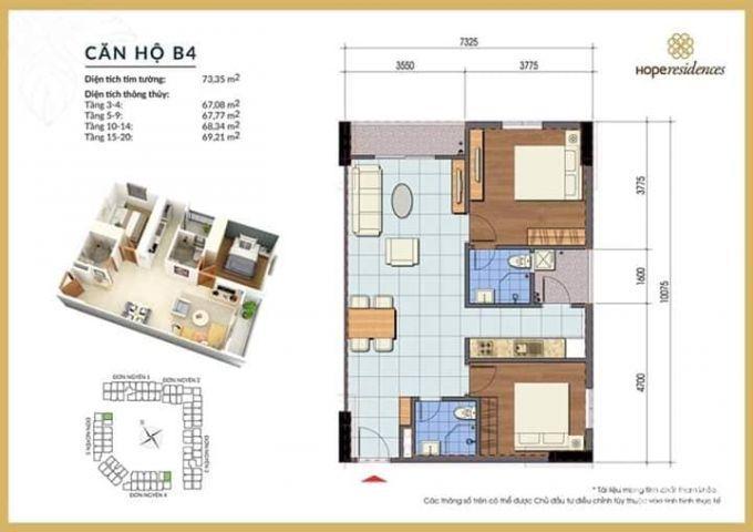 Dự án NOXH Hope Residence chỉ 16,2tr/m2