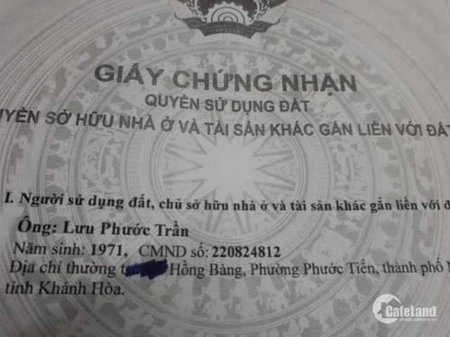 Chính chủ bán nhà 2 mặt tiền đường Hồng Bàng, Tân Lập, tp Nha Trang