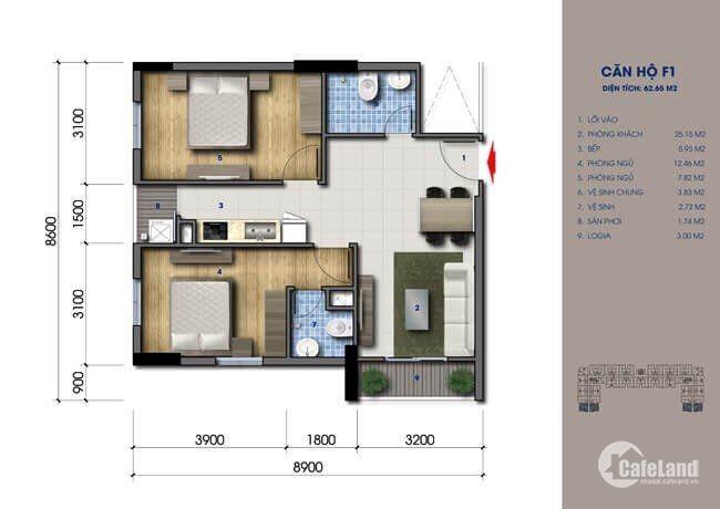 Mở bán căn hộ lê văn khương giá rẻ chỉ 420tr/căn 2PN, full nội thất