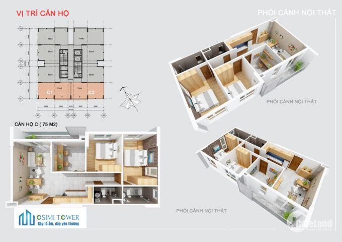 CH Osimi Tower Gò Vấp đang hoàn thiện nhận nhà trước tết âm lịch từ 1.550 tỷ/2PN. LH: 0349693396