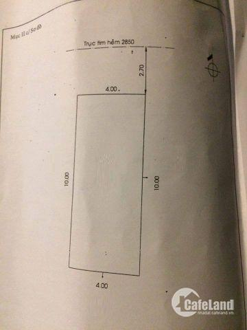 Bán Nhà 4x10m.1 lầu.Hẻm 6m Phan Anh.P Hiệp Tân.Q Tân Phú