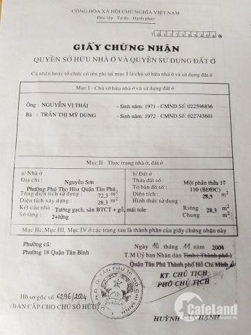 NỢ NẦN Bán Gấp Nhà 4x7m HXH Đường Nguyễn Sơn, SHR, Chỉ 3.5 tỷ LH 0912943100
