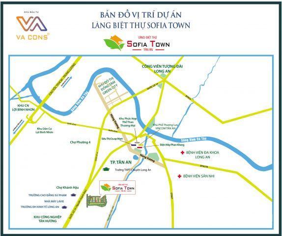 Cơ hội an cư đẳng cấp chỉ với 750tr trong khu nhà phố dự án Sofia town Long An/SHR, an ninh tiện nghi