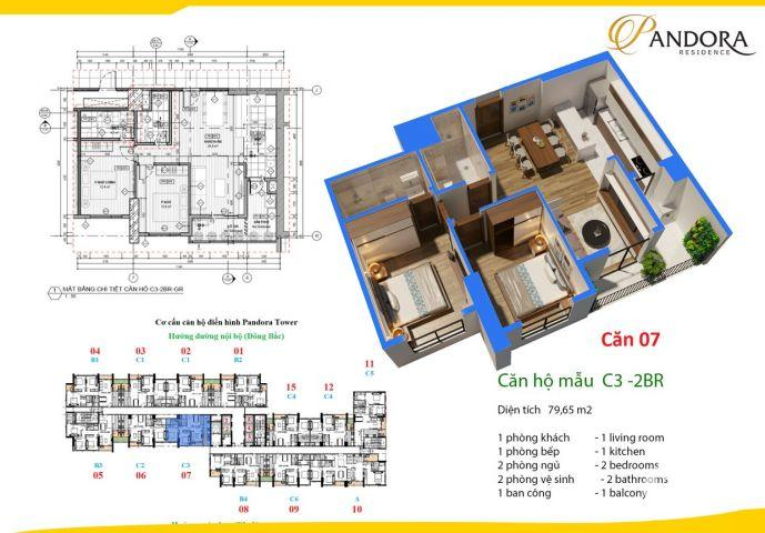 Chung cư cao cấp Pandora Tower 53 Triều Khúc mở bán quỹ căn đẹp, ưu đãi cao LH 0988043864