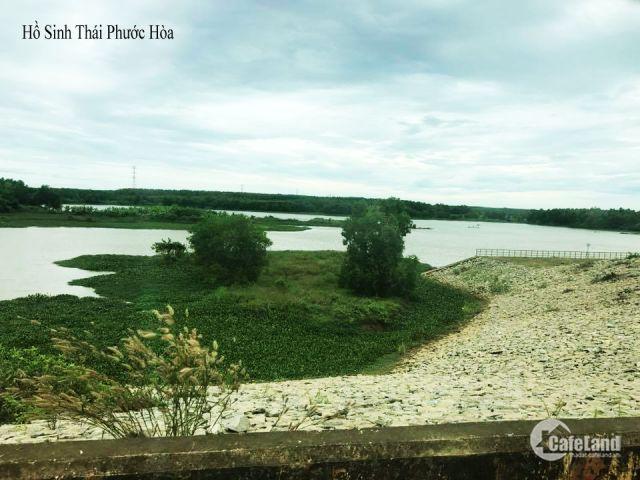 Bán đất Chơn Thành-lô góc 2 mặt tiền ngay mặt tiền đường 35m đối diện hồ sinh thái Phước Hòa